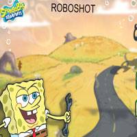 Игра Спанч Боб стрелялки: Уничтожить робота онлайн