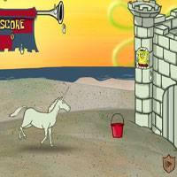 Игра Губка Боб строит замки из песка онлайн