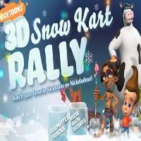 Игра Спанч Боб 3д - Снежные гонки онлайн
