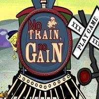 Игра Губка Боб защищает поезд онлайн