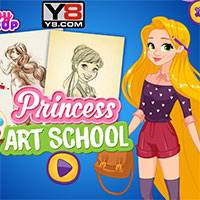 Игра Художественная школа принцесс онлайн