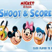 Игра Микки Маус играет в аэрохоккей онлайн