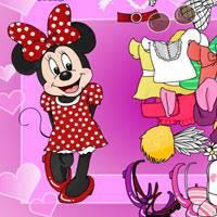 Игра Микки Маус одевает подружку онлайн