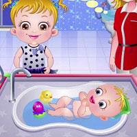 Игра Мыть малышей онлайн