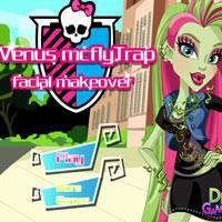 Игра Монстр Хай Макияж: Зелёная косметика онлайн