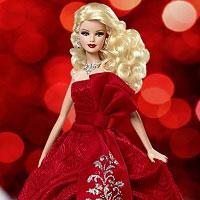 Игра Одевалка Новогодняя Барби онлайн