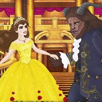Игра Одевалки Красавица и Чудовище онлайн