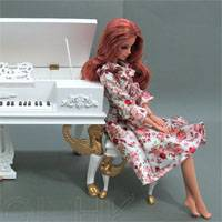 Игра Пианино Барби онлайн
