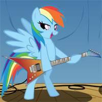 Игра Пони играет на гитаре