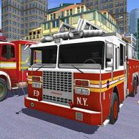 Игра Пожарные машины онлайн