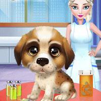 Игра Принцесса спасает щеночка онлайн
