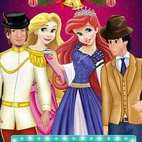 Игра Принцессы готовятся к двойному свиданию онлайн