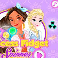 Игра Принцессы играют со спинером онлайн