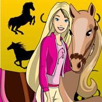 Игра Раскрась Барби и пони онлайн