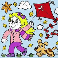 Игра Раскрась девочку и ее щеночка онлайн
