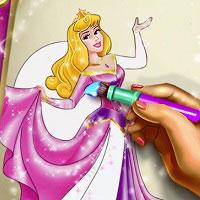 Игра Раскрась принцессу онлайн