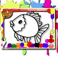 Игра Раскраска: Рыбки в аквариуме онлайн