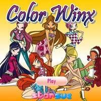 Игра Раскраска Винкс онлайн