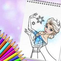 Игра Раскраски для Девочек Принцессы онлайн