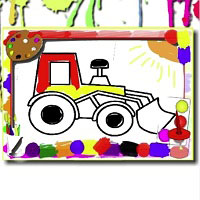 Игра Рисовалка: Трактор онлайн