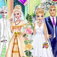 Игра Свадьба Анны и Эльзы онлайн