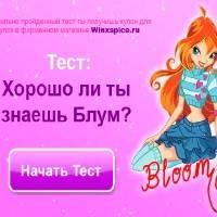Игра Тест для девочек - Блум Винкс онлайн