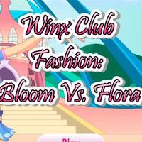 Игра Винкс Блум против Флоры онлайн