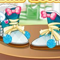 Игра Зимние сапожки для девочек 8 лет онлайн