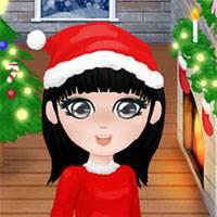 Игра Зимняя одевалка для девочек онлайн